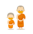 monks and novices thailand with in put mask vector image