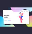 music player performing on rio carnival or hawaii vector image