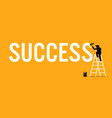 painter painting the word success on a wall by vector image