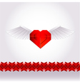Paper valentine love heart vector image vector image