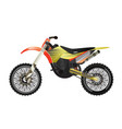 rally motorbike isolated icon vector image vector image