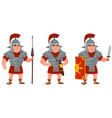 roman warrior in different poses vector image vector image