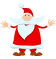 santa claus cartoon character on christmas holiday vector image vector image