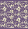 seamless ikat yellow and lilac pattern vector image vector image