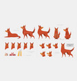 set for creating a dog animation of emotions vector image vector image