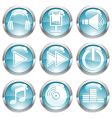 set music gloss button vector image
