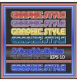 Set Of Bright Graphic Styles for Design vector image