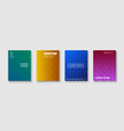 set trendy colorful covers - retro mempis style vector image