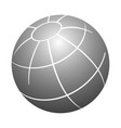 simple 3d design element 3d globe grey color vector image