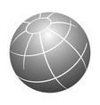 simple 3d design element 3d globe grey color vector image vector image