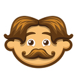 Smiling Man with mustache vector image vector image