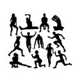 sport activity silhouettes vector image