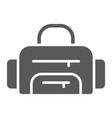 sport bag glyph icon sport and baggage fitness vector image vector image