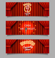 stand-up comedy show open mic night banners vector image