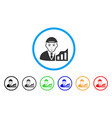 stock trader rounded icon vector image vector image