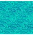 stylized waves elements pattern vector image vector image