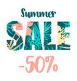 summer sale design template vector image vector image