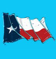 texan artistic brush stroke waving flag vector image