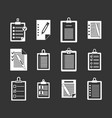 to do list icon set grey vector image