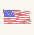 usa flag icon hand drawn style vector image