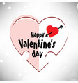 valentines day card with white background vector image vector image