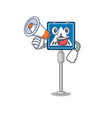 with megaphone toy crosswalk sign on character vector image vector image