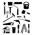 House repair tools icons set vector image
