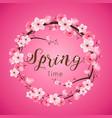 cherry blossom spring time realistic sakura vector image