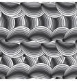 horizontal seamless texture with waves vector image