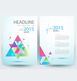 Abstract modern flyers brochure annual report vector image