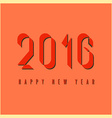2016 happy new year mockup graphic retro fire vector image vector image