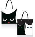 bag cat vector image vector image