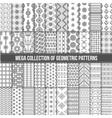 big collection seamless monochrome retro vector image