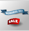big memorial day sale with ribbon vector image vector image