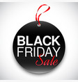 black friday tag vector image