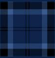 blue and black tartan plaid seamless pattern vector image vector image