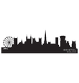 bristol england skyline detailed silhouette vector image vector image