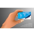 business card in hand vector image