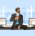 businessman with a cup coffee vector image vector image
