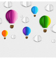 card with air balloons and cloud transparent vector image vector image