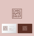 chocolate drop cup cafe flat emblem vector image