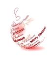 christmas ball made of merry christmas phrase vector image vector image