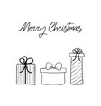 christmas hand drawn greeting card minimal vector image