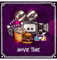 Colorful Cinema Template vector image vector image