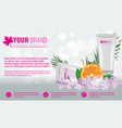 cosmetics product ads poster template cosmetic vector image vector image