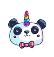 cute little pandicorn vector image vector image