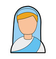 cute nun avatar character vector image vector image