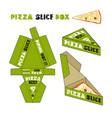 design of box for pizza slice vector image