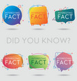 did you know interesting fact vector image vector image