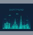 Dortmund skyline rhine westphalia germany a